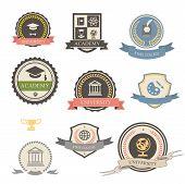 University, college and academy heraldic emblems logo
