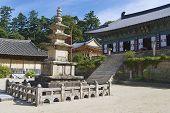Beautiful Haeinsa temple exterior, South Korea