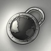 Your world secured with a padlock