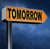 tomorrow next day banner, coming soon  what will the future bring a new beginning program