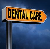 pic of oral  - dental health care center oral hygiene or surgery for healthy teeth without caries but with a beautiful smile road sign with text  - JPG