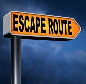 escape route avoid stress and break free running away to safety no rat race