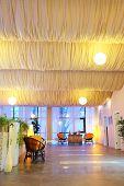 pic of beauty salon interior  - Interior of spa salon waiting room - JPG