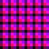 Pink, Red, Purple And Black Seamless Check Background