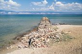 Old Damaged Pier, Lake Baikal