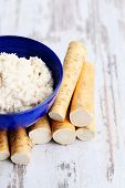 horseradish root and grated horseradish