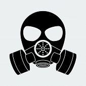 Vector biohazard mask white