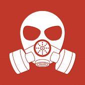 Vector biohazard mask red