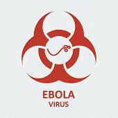 Vector ebola virus and biohazard sign