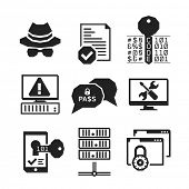 Hacking icons set 01 // BW Black & White