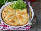pic of phyllo dough  - Tiropita  - JPG
