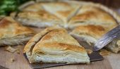 stock photo of phyllo dough  - Tiropita  - JPG