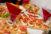 Bruschetta Appetizer On The Table