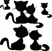 Cat Silhouette - Vector Illustration