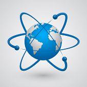Satellites around the earth