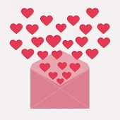 letter with hearts