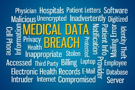 pic of inappropriate  - Medical Data Breach word cloud on blue background - JPG