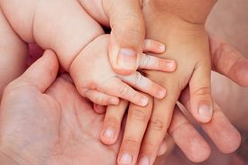 picture of little sister  - Four hands of the family - JPG
