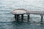 picture of observed  - Observation pier in the sea near Marina Barrage Singapore - JPG