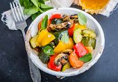 stock photo of stew  - vegetable stew with fresh vegetables ratatouille - JPG
