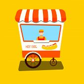 pic of cart  - Vendor hot dog - JPG
