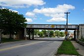 stock photo of underpass  - The Ohio Street Underpass in Joliet - JPG