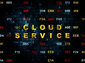 picture of wall cloud  - Cloud computing concept - JPG