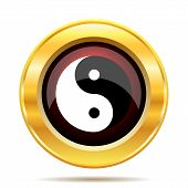 picture of ying yang  - Ying yang icon - JPG