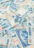 image of twenty dollar bill  - Background of Hong Kong twenty dollar bills - JPG