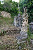 stock photo of graveyard  - Old graveyard in France - JPG