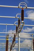 picture of substation  - High voltage switch - JPG