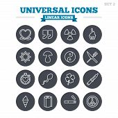 image of universal sign  - Universal linear icons set - JPG