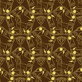 stock photo of hieroglyph  - Egyptian seamless pattern  - JPG