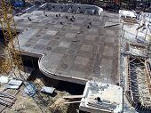 foto of foundation  - Foundation work at the construction site of the building - JPG