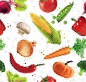 picture of leek  - Pattern pixel vegetables corn - JPG