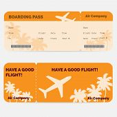 stock photo of boarding pass  - Airline boarding pass - JPG