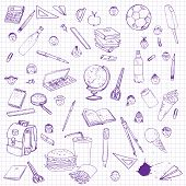 pic of writing  - set of school objects - JPG