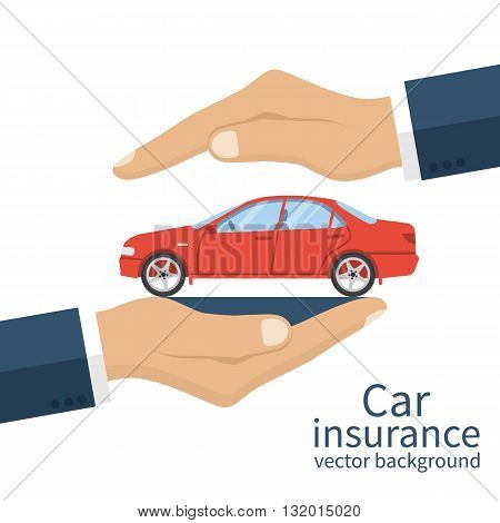 poster of Insurance Car Vector