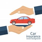 Insurance Car Vector poster