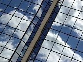 Blue Sky And Clouds Reflection