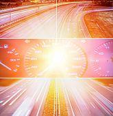 Speed highway collage