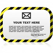 Vector warning banner. Vector template.