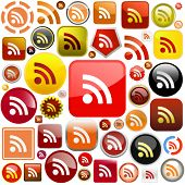 RSS buttons. Vector illustration for web.