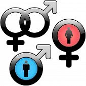 Men and women icons. Graphic elements set.