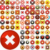 Rejected vector buttons. Vector set.