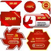 Grande coleção de vetores de sinais vermelho venda
