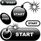 Botón de inicio. Vector para la web.