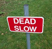 Dead Slow Sign poster