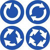 Recycle symbol set. Vector set.