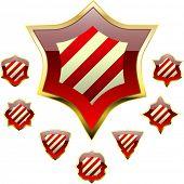 Vector set of heraldic symbols.